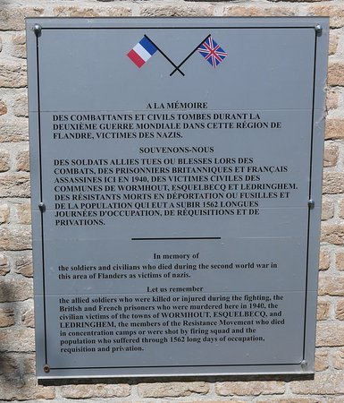 Esquelbecq, France : Wormhoudt Massacre Memorial Site