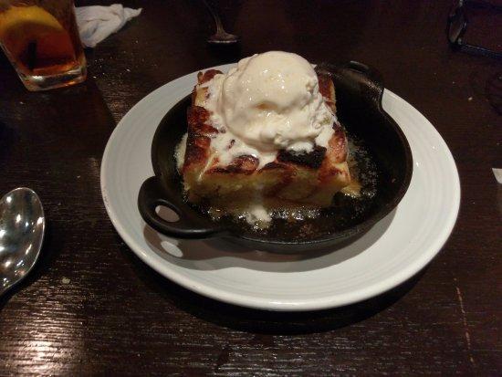 Carrabba's Italian Grill: lemon glazed bread pudding with ice cream.