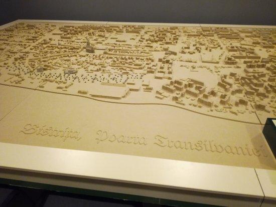 National Centre for Information and Tourism Promotion Bistrita: Model of Bistrita fortress