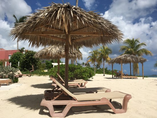 Breezes Resort & Spa Bahamas : Our Private Umbrellan and Beach Chairs outside our Beach Front Room