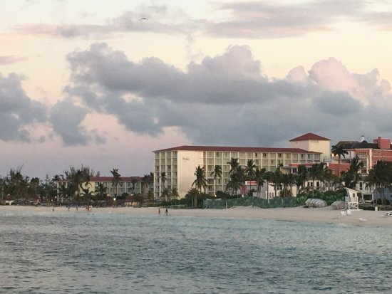 Breezes Resort & Spa Bahamas : View of Resort from Pier down the beach