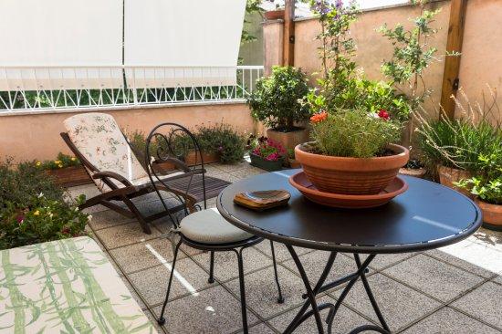 Galla Placidia Bed and Breakfast: terrazza camera verde