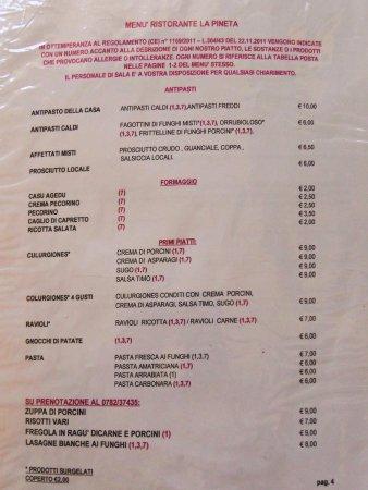 Arzana, Italia: Prezzi onesti