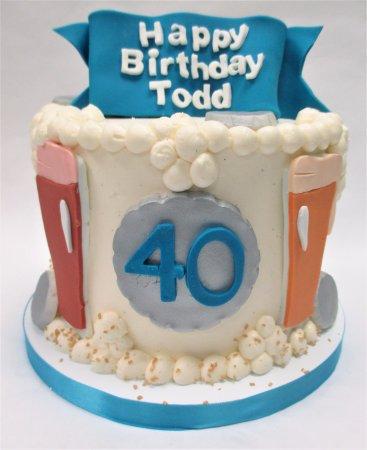 Flavor Cupcakery Bake Shop 40th Birthday Cake