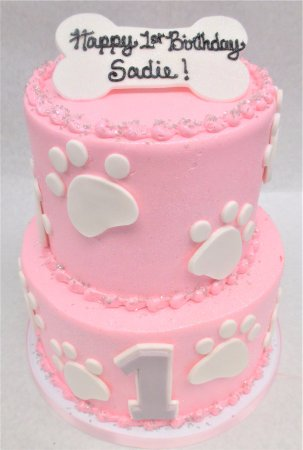 Pleasant Puppy Themed First Birthday Cake Picture Of Flavor Cupcakery Personalised Birthday Cards Rectzonderlifede
