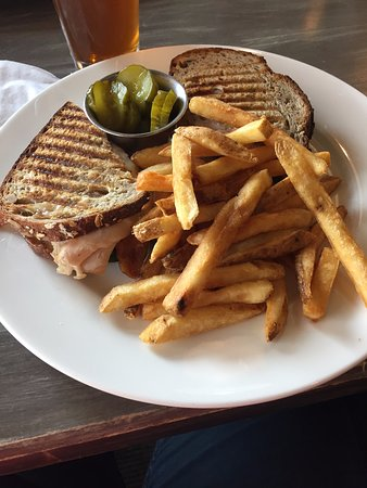 Jay, VT: Turkey sandwich on sour dough with fries