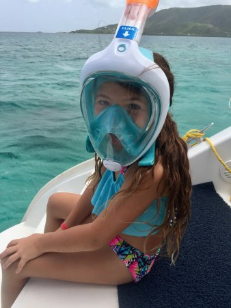 Jolly Harbour, Antigua: Getting ready to snorkel the reef