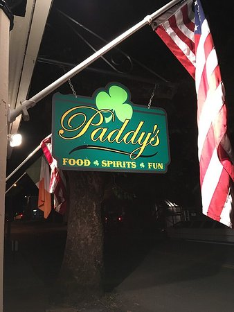 Paddy's: Sign out front