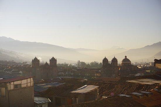 Casa Hospedaje Hatun Quilla : Panorama dalla veranda