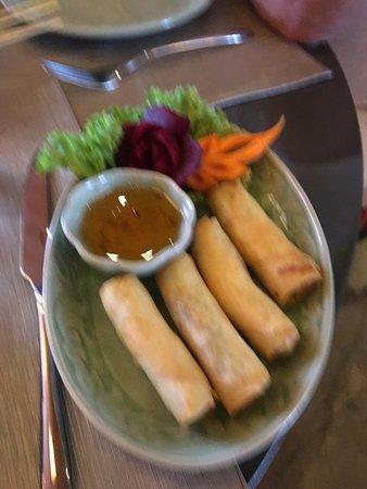Sukhothai: Kleine groente loempia's - erg lekker