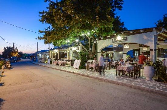 Agios Prokopios, Yunani: La Trattoria Entrance