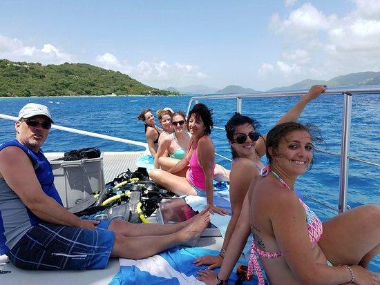 Cruz Bay, St. John: Our group!!
