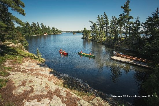 Atikokan, Canadá: Panoramic View of Voyageur Island - border of Quetico