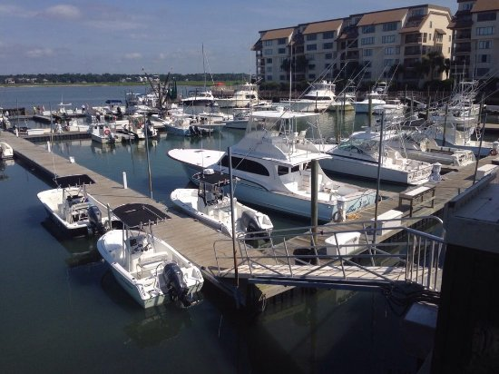 Marina View From The Outdoor Dining Deck Picture Of Gulfstream Cafe Garden City Beach