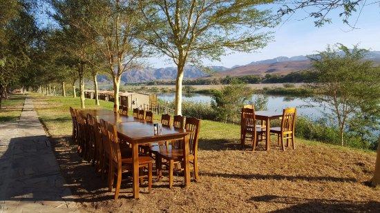 Aussenkehr, Namibia: Norotshama River Resort view of river.