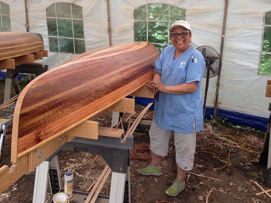 Lake Luzerne, Estado de Nueva York: Melissa's canoe!