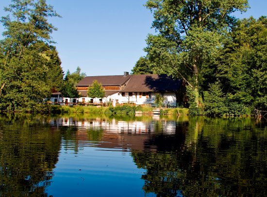 Wegberg, Tyskland: Blick vom See