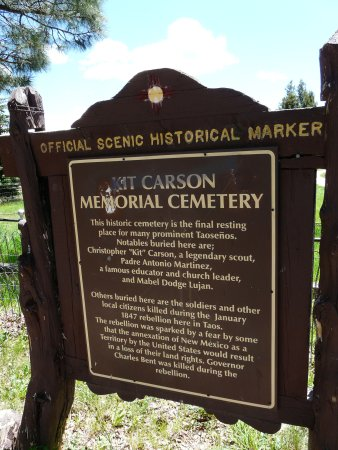 Kit Carson Park: Sign on the other side of the park