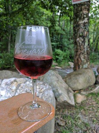 Grandfather Vineyard & Winery: creekside at Grandfather Vineyard