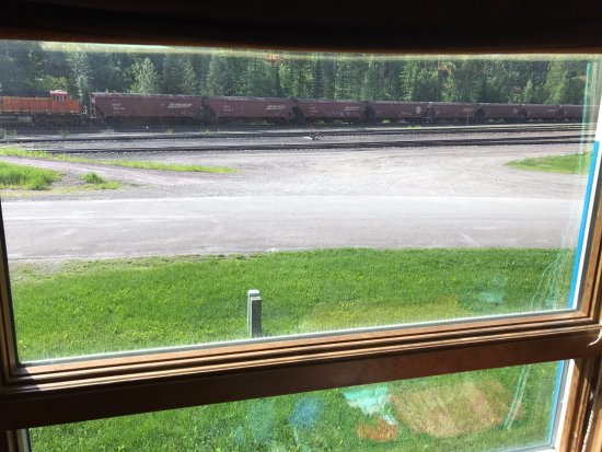 Essex, MT: Cool view of trains and forest from loco bay window! Very relaxing!