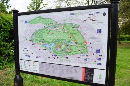 Map of the Regents Park Picture of Regents Park London