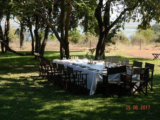 Savute Safari Lodge: A table fit for a king