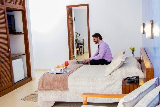 Apto Duplo/triplo com varanda - Strand Hotel - Guarujá