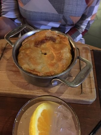 This is the Steak & Ale Pie before it was cut open ...