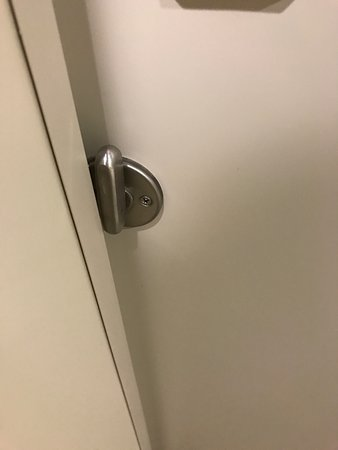 Blacksburg, VA: The door doesn't lock because of the wall in front of the latch