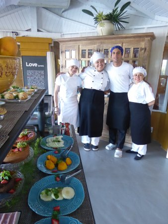 Vila D'este: The team that creates the unbelievable breakfast buffet...AND, this is just a part of it!