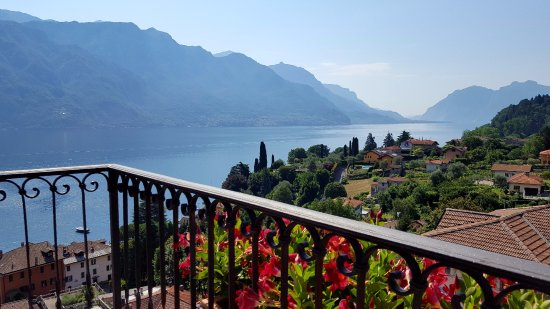 Hotel Bellagio: This was the view I saw from my bed, looking out the side window, when I woke up.