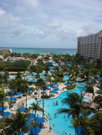 Marriott's Aruba Surf Club: View from our 8th balcony