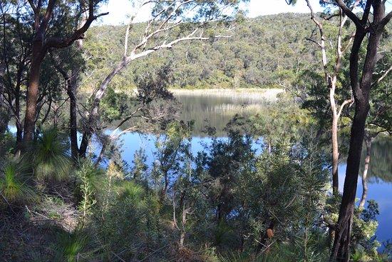 North Stradbroke Island, Australien: The blue lake from the lookout platform