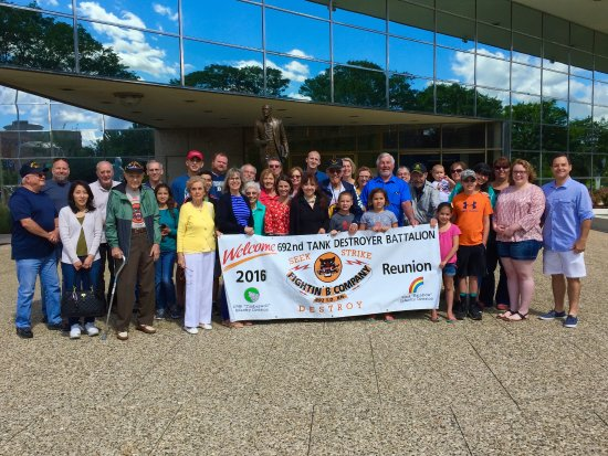 Members of the 692nd Tank Destroyer Battalion Family Reunion visit the Gerald R. Ford Museum