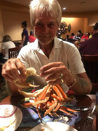 Wow what crab legs  If you read a review it is expensive