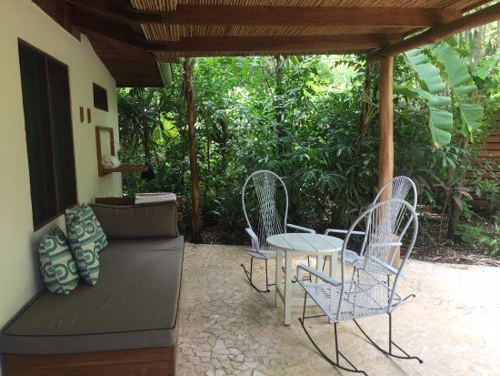 The Harmony Hotel: Bungalow Patio. A great place to relax!