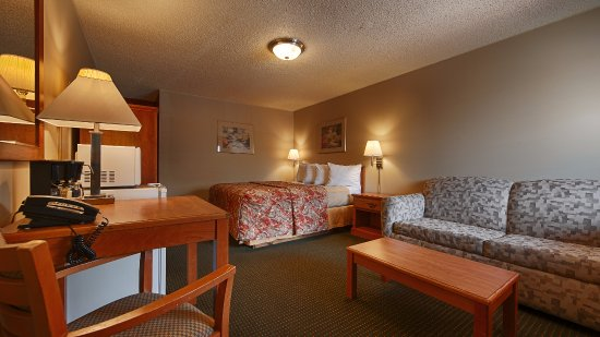 Courtesy Inn Eugene: Single Q Bed with Sofa