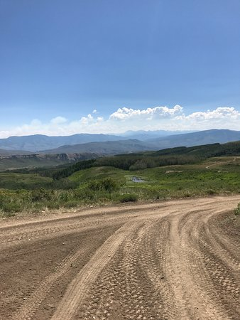 Wolcott, CO: Looking back over the trail we ascended