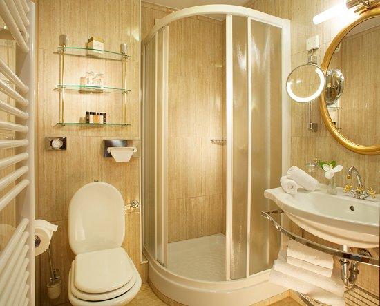 Grand Hotel Toplice: A bathroom in a single room