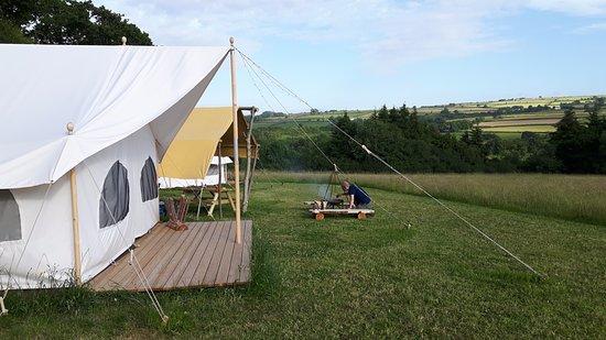 Boncath, UK: tent in a beautiful setting