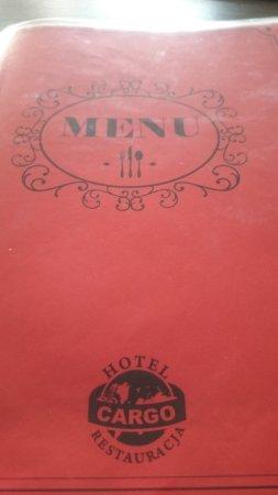 Slubice, Polonia: Rest.Cargo, menu
