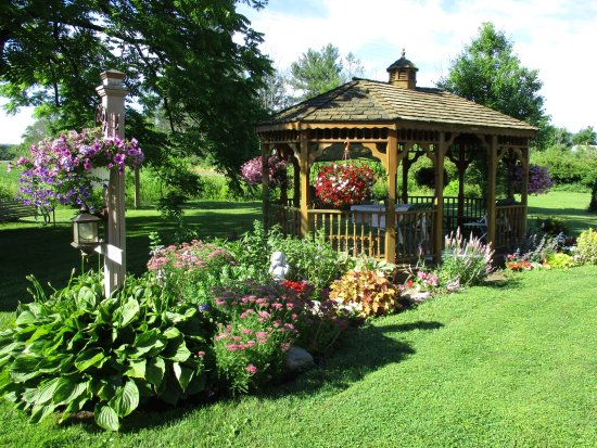 Muncy, PA: View of the gazebo and gardens.