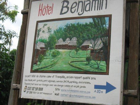 Hotel Benjamin : just entering the hotel