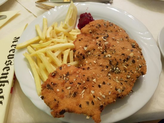 Schnitzel With Pumpkin Seed Crumb Picture Of Krebsenkeller