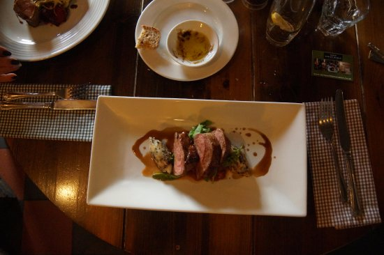 Saxmundham, UK: Rump of lamb with a good taste of the sheep