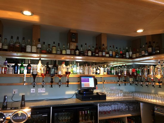 Insch, UK: Showing our extensive range of whiskies and gins