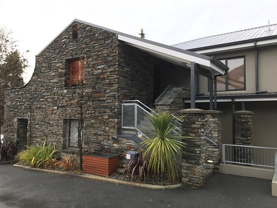Ramada Resort Wanaka: External view of the stairs leading to Presidential Suite