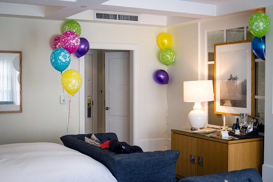 Garden Court Hotel: Room Decorated With Balloons (photo Taken On Relonch)