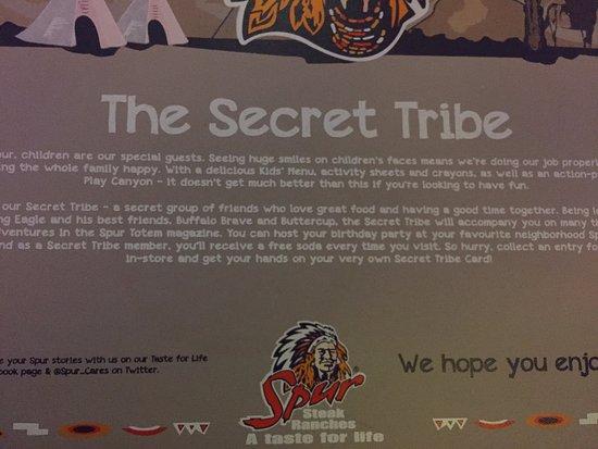 Red Rock Spur Steak Ranch: The Secret Tribe