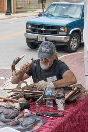 Art & Soul on the Fox: Working throughout the show, Jozef transform metal into works of art